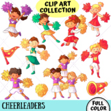 Cheerleader Kids Clip Art Collection (FULL COLOR ONLY)