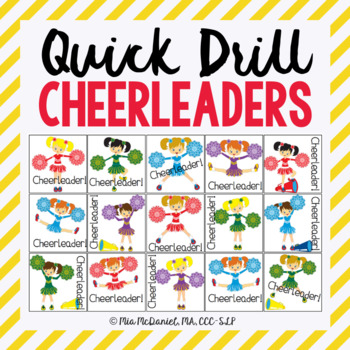 Cheerleader Quick Drill {for articulation or fluency therapy & RTi}