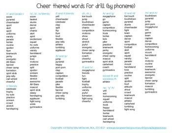 Quick Drill Cheerleaders {for speech therapy or any skill drill}