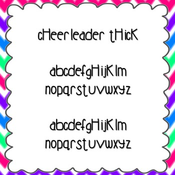 Cheerleader Thick Font {personal and commercial use; no license needed}
