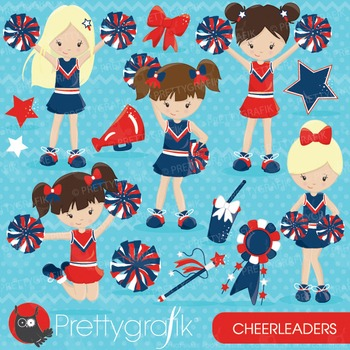 Cheerleader clipart commercial use, vector graphics, digital - CL646