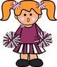 Cheerleader kids Clipart