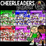 Cheerleaders Clip Art Bundle {Educlips Clipart}