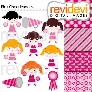Cheerleaders Clip art and digital papers