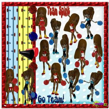 Cheerleaders ClipArt Collection