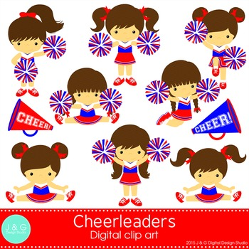 Cheerleaders Series 2 Digital Clipart, clip art