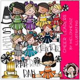 Cheerleaders clip art - COMBO PACK- by Melonheadz