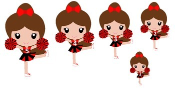 Cheerleaders themed Size Sequence preschool printable activity. Daycare