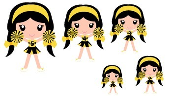 Cheerleaders themed Size Sequence preschool printable acti