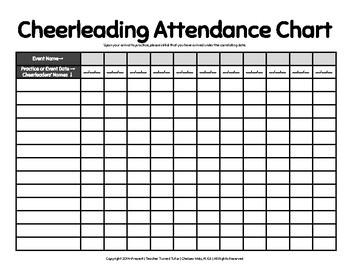 Cheerleading Attendance Chart