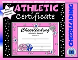 Cheerleading Certificate - Pink and Blue Theme Colors - Editable