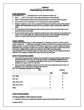 Cheerleading Constitution