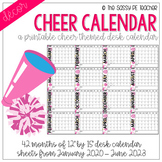 Cheerleading Desk Calendar