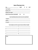 Cheerleading Game Plan and Evaluation Forms