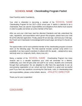 Cheerleading Informational packet