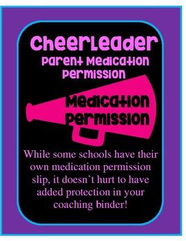 Cheerleading Medical Permission Slip