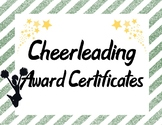 Cheerleading Squad Team Awards in Dark Green and Yellow