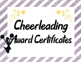 Cheerleading Squad Team Awards in Purple and Yellow