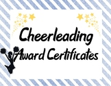 Cheerleading Squad Team Awards in Royal Blue and Yellow