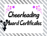 Cheerleading Squad Team Awards in Silver / Pink
