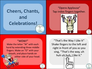 Cheers, Chants and Celebration cards