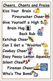 Cheers, Chants and Praise Poster Primary Classroom Managem