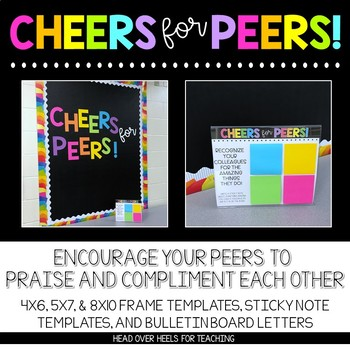 Cheers For Peers! Build Community at Your School! {Templates, Trackers, Letters}