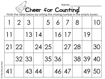 Cheers for Counting!  Skip Counting from 2, 3, 4, 5, and 10
