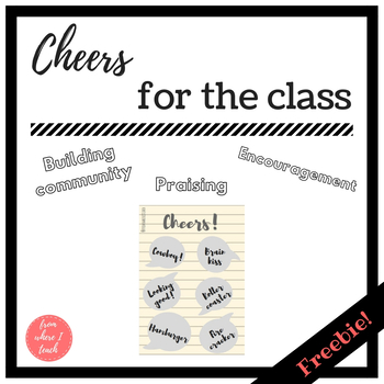 Cheers for the classroom - FREE POSTER
