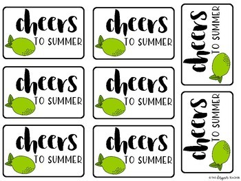 Cheers to Summer Teacher Gift Tag