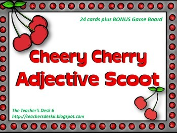 Cheery Cherry Adjective SCOOT with Bonus Game Board