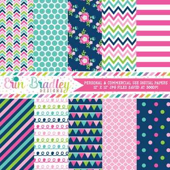 Cheery Day Digital Paper Pack