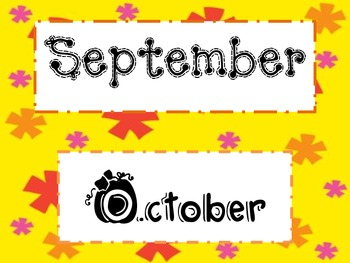 Cheery Months of the year