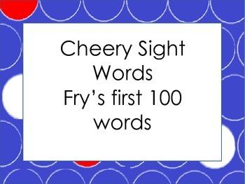 Cheery Sight Words