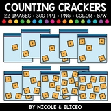 Cheese Cracker Counting Clipart