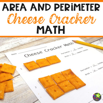 Area and Perimeter Cheese Cracker Math