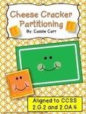Cheese Cracker Partitioning {2.G.2, 2.OA.4}