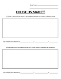 Cheese Its Multiplication- Area models!