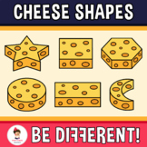 Cheese Shapes Clipart Geometry Math 3D Food