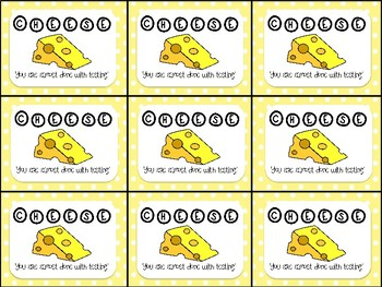 Cheese Testing Motivation Treat Tags