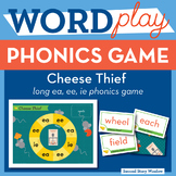 Cheese Thief long vowel ea, ee, ie Phonics Game - Words Their Way Game