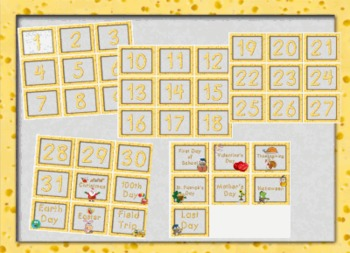 Cheese and Mice Classroom Calendar Set