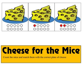 Cheese for Mice  Ten Frame - Counting 0-10 Mats - Learning Center Kit