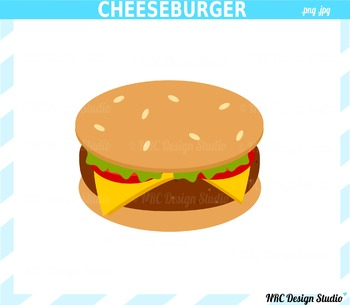 Cheeseburger clipart commercial use