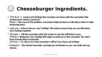 Cheeseburger Counselor Introduction
