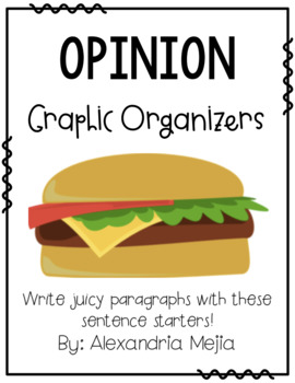 Cheeseburger Graphic Organizer - Persuasive / Opinion Writing