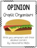 Hamburger/Cheeseburger Graphic Organizer - Opinion / Persuasive Writing