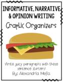 Hamburger/Cheeseburger Graphic Organizer BUNDLE {3 Types of Writing}