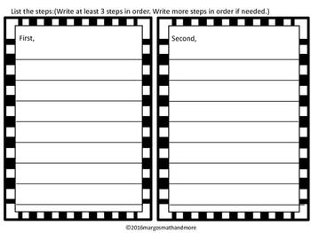 #backtoschool Cheeseburger Informational Writing and Sequencing