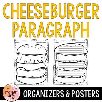 Cheeseburger Paragraph Planning Poster and Organizers